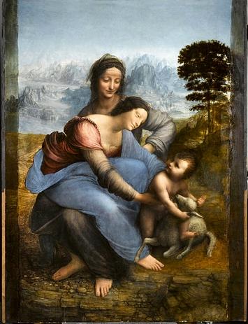 Léonard de Vinci · Anna Selbdritt, um 1503–1519, Öl auf Holz, 168,4x113 cm, RMN-Grand Palais (musée du Louvre).Foto: R. G. Ojéda