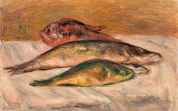 Pierre Auguste Renoir · Fischstillleben, 1915/16, Spende von Georg Reinhart, Winterthur, 1944, Museum zu Allerheiligen Schaffhausen ©ProLitteris