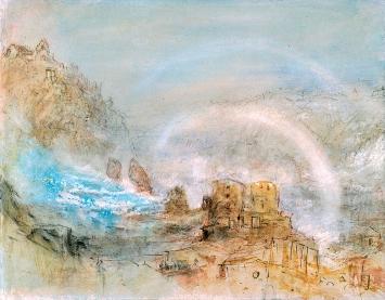 J. M. William Turner · Der Rheinfall bei Schaffhausen, 1841, Bleistift, Feder und Aquarell