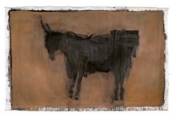 Elisabeth Strässle · Lastesel, 2017, Öl auf Leinwand, 235x360cm