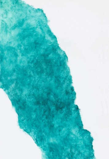 Elisabeth Strässle · Derborence, 2017, Öl auf Leinwand, 155x105cm