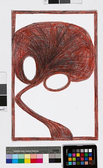 Otto Lehmann · Ohne Titel, aus der Reihe ‹Noli me tangere›, 2016, Farbstift, 48x32cm