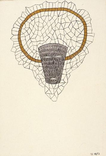 Anonym · Ohne Titel, 22.09.1934, Gouache auf Papier (loses Blatt in einem Buch), 27x20cm ©C.G. Jung Institut, Zürich/Küsnacht