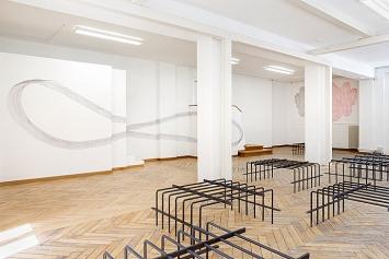 Andrea Vogel und Beatrice Dörig · Line Goes By, Installationsansicht Nextex, St.Gallen, 2019