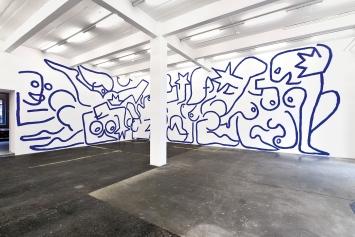 Marine Julié · La Nuit, 2020, Ausstellungsansicht Kunst Halle Sankt Gallen.Foto: Sebastian Schaub