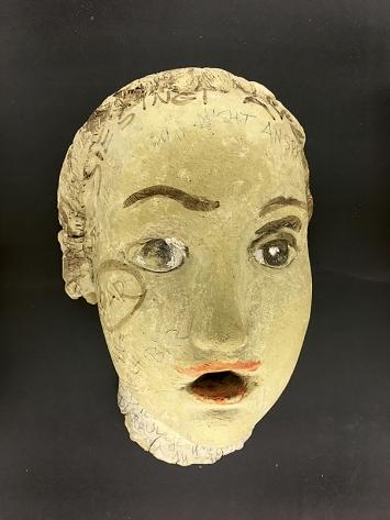 Annemarie von Matt · Die Nicht Ansprechbare, 1940–1961, Ton bemalt, 24,5x16x10cm, Nidwaldner Museum Stans