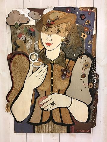 Annemarie von Matt · Schaufensterdekoration, 1937, Collage auf Sperrholz, 99x73x2cm