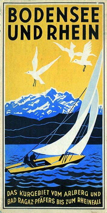 Titelseite Prospekt Bodensee und Rhein 1936, Courtesy Museum Lindwurm, Stein am Rhein