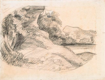 Gustave Courbet · Etude de paysage, gegen 1874, Court. Musée Gustave Courbet, Ornans