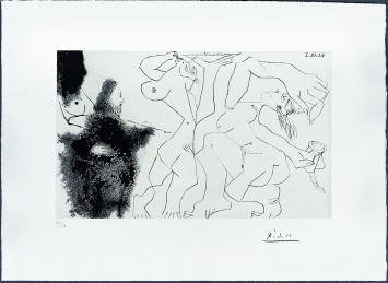 Pablo Picasso · Suite des 347, Aquatinta und Kaltnadel auf Velin, 198x326mm, Musée Jenisch Vevey ©ProLitteris.Foto: Julien Gremaud
