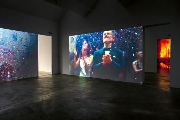 David Claerbout · The confetti piece, 2015–2018, 3D-Animation, Ausstellungsansicht Kunst Museum Winterthur ©ProLitteris.Foto: Reto Kaufmann