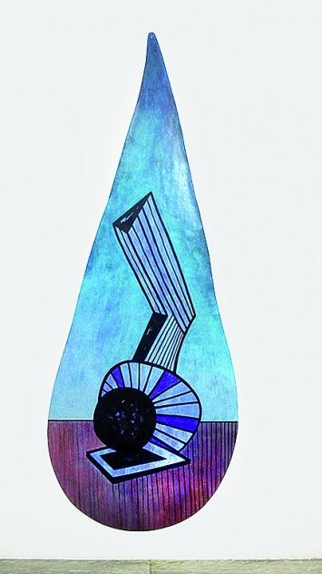 Thomas Bonny, Distillation, 2018, Malerei auf Papier, 350x150cm