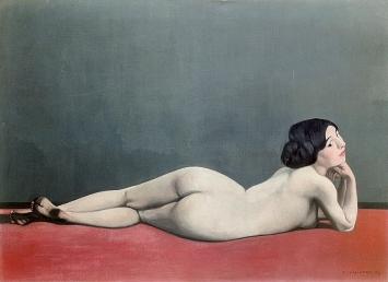 Félix Vallotton · Nu couché au tapis rouge, 1909, Petit Palais, Genf