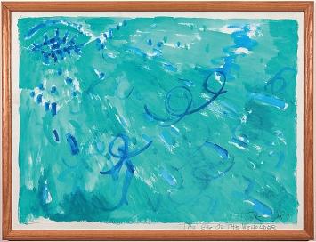 Paul Thek · The Eye of the Beholder, 1987, Bleistift und Acryl auf Papier, Blattmasse 48,3x63,5cm, recto signiert und datiert, Courtesy Mai 36 Galerie, Zürich