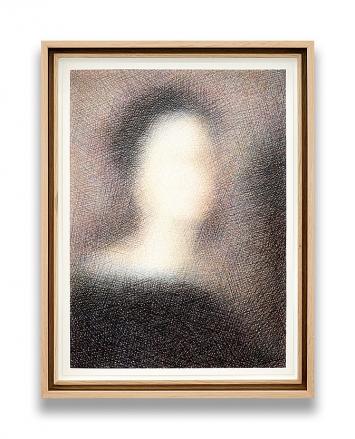 Slawomir Elsner · Selbstporträt (nach Raffaello Sanzio da Urbino), 2019, Farbstift auf Papier, 45x33cm