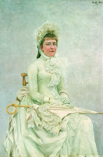 Karl Stauffer (1857–1891) · Bildnis von Lydia Welti-Escher, 1886. Öl auf Leinwand. Gottfried Keller-Stiftung / Kunsthaus Zürich