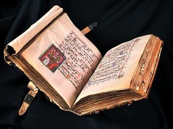 Graduale des Dominikanerinnenklosters St. Katharinental, um 1312, Handschrift auf Pergament, Eigentum Gottfried Keller-Stiftung / Schweiz. Nationalmuseum / Kanton Thurgau