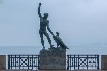 Hermann Hubacher · Ganymed, 1946–1952, Bronze, Bürkli-Terrasse, Zürich, Ausführung: Giesserei Jäckle, Zürich, Courtesy Kunstsammlung der Stadt Zürich