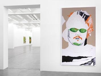 Michael Williams, New Paintings, Galerie Eva Presenhuber, Zürich, 2019.Foto: Stefan Altenburger