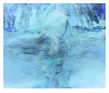 Rita Ackermann · Strokes of Disappearance, 2018, Acryl und Öl auf Leinwand, 127x152,4cm, Courtesy Hauser & Wirth. Foto: Genevieve Hanson