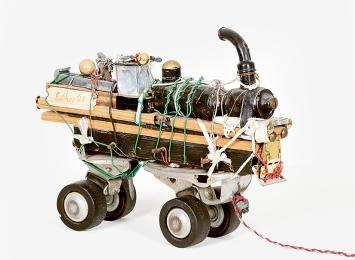Max Goldinger · Lokomotive, Museum im Lagerhaus, Stiftung für schweizerische Naive Kunst und Art Brut, St.Gallen