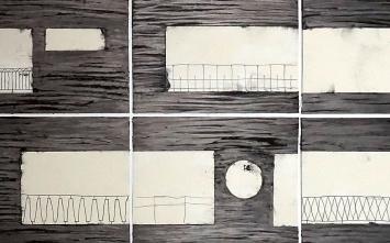 Georgette Maag · Tu sueño, 2020 (Ausschnitt), Graphit, Öl auf Papier, Grösse variabel, Einzelblätter: 35x43; 35x64,5cm