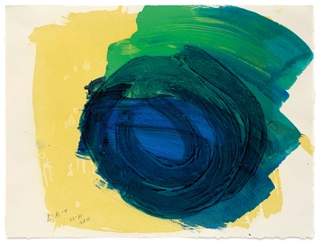 Howard Hodgkin · Absolutely, aus: ‹After All›, 2015–16, Sugar-Lift Aquatinta mit Carborundum-Relief, auf Papier, 33,5x44cm