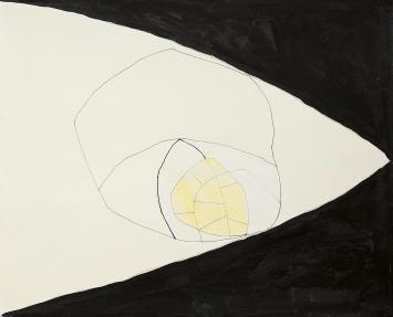 Jürgen Partenheimer · Strömung, 2016, Tusche, Aquarell, Bleistift auf Papier, 27x33cm ©ProLitteris