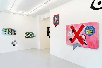 Klodin Erb· Babel & Bubbles, Ausstellungsansicht Lullin + Ferrari, 2019