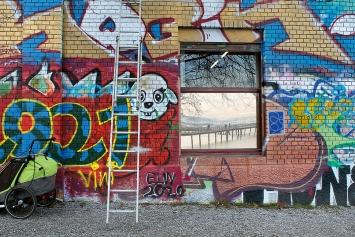 Graffiti, Rote Fabrik, Zürich Wollishofen