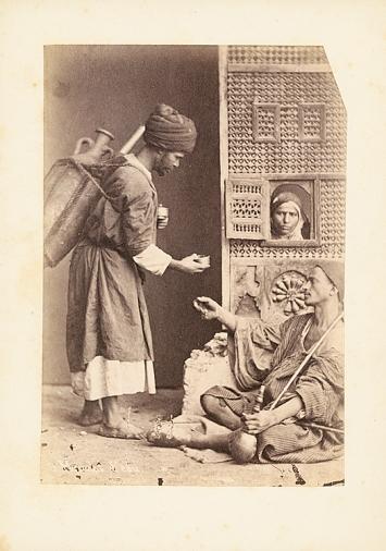 Pascal Sebah · Wasserverkäufer, um 1875, Albuminabzug, Ägypten, Kairo, Museum Rietberg, Zürich