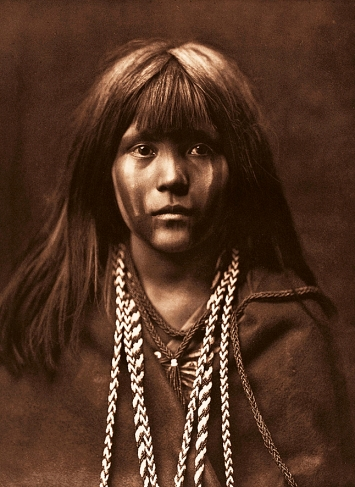 Edward S. Curtis · Mosa – Mohave, 1903, ­Fotogravur, McCormick Library of Special ­Collections, Northwestern University Libraries
