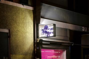 Ian Wooldridges · Violet, Neon Sign, Teil der Ausstellung ‹ultra-violence for those who qualify›, Sommer 2019, Courtesy ZHdK.Foto: Hayahisa Tomiyasu