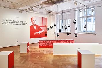 Thomas Mann in Amerika, Ausstellungsansicht Strauhof, 2019.Foto: Zeljko Gataric