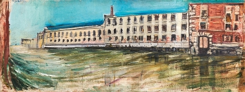 Varlin · Irrenhaus in Venedig, 1954, Öl auf Leinwand, Courtesy P. Guggenheim, Bondo.Foto: Reto Pedrini