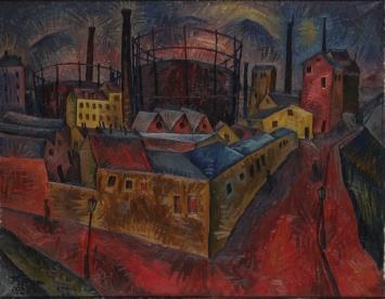 Ignaz Epper, Gasfabrik, 1920, Kunstmuseum Thurgau