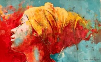 Leandro Manuel Fernandez Cuevas, Kuba «Claudia»,Acryl auf Leinwand, 139 x 87 cm, 2021
