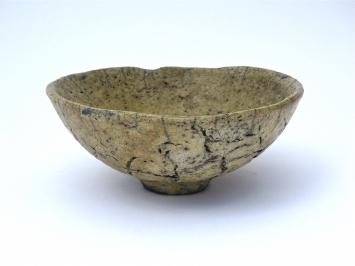 chawan, Teeschale , Raku-brand 7cm hoch,12 cm weit
