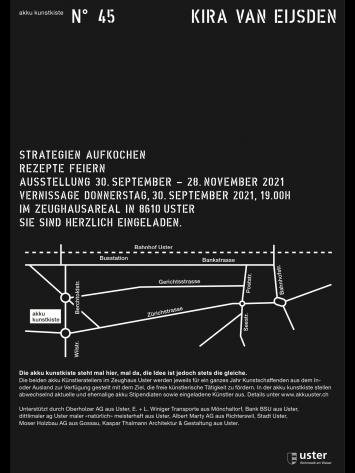 """Kira van Eijsden; Vernissage und Ausstellungin der Kunstkiste von Verein """"akku künstleratelier uster"""""""