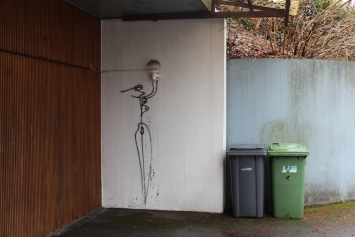 Graffiti «Lichtträgerin», Harald Naegeli Foto: Manuela Hitz