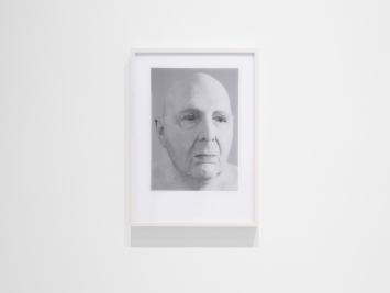 Ausstellungsansicht, Urs Lüthi, SUPERHUMAN, Sicht auf Urs Lüthi, from the Series Four Selfportraits (TEARS), 2020, Windhager von Kaenel, Zürich, 2021 / Courtesy: der Künstler und Windhager von Kaenel