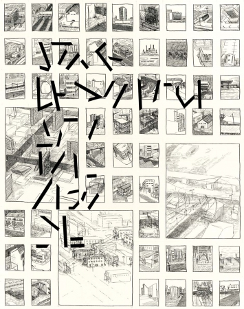 """Jonah Sack: Seite aus """"Proposal for a new city, the same as the old one"""""""
