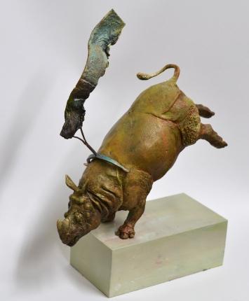 Kai Klahre,«Lust for Life»,2019, Bronze und Aluminium, mit Öl bemalt, 30 cm hoch