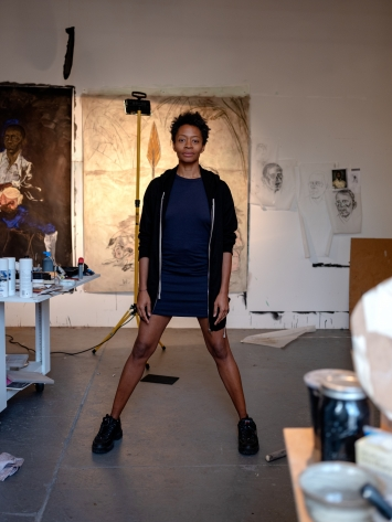 Kara Walker in ihrem Studio, 2019, Courtesy Kunstmuseum Basel.Foto: Ari Marcopoulos