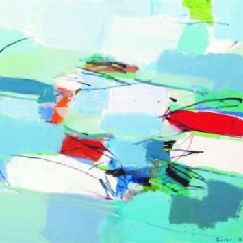 "Andreas Durrer""Natur abstrakt"" 2018, 130 x 130 cm Acryl auf Leinwand"
