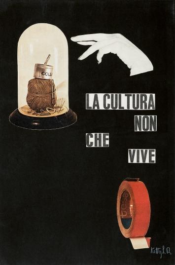 Ketty La Rocca · La cultura che non vive, 1964–1965, Collage auf Papier, 44,5x29,5cm, Courtesy The Estate of Ketty La Rocca, Michelangelo Vasta