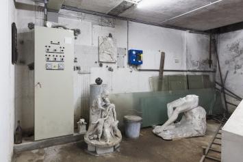 Thomas Julier, Kunsthaus Glarus:Sie sagen, wo Rauch ist, ist auch Feuer, 2017, Installationsansicht, Foto: Gunnar Meier