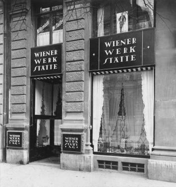 W. Pleyer, Portal der Verkaufsstelle der Wiener Werkstätte AG Zürich, Bahnhofstrasse 1, 1917, MAK - Museum für angewandte Kunst, Wien, © MAK