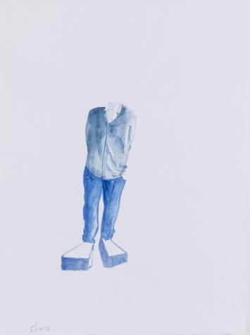 Erwin Wurm, Shoes, 2017, Wasserfarbe auf Papier, Courtesy of the artist