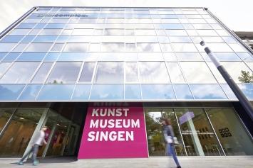 Kunstmuseum Singen, Aussenansicht, Foto Kuhnle&Knödler Fotodesign, Radolfzell, (c) Kunstmuseum Singen